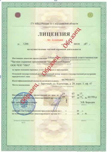 лицензия мвд 1